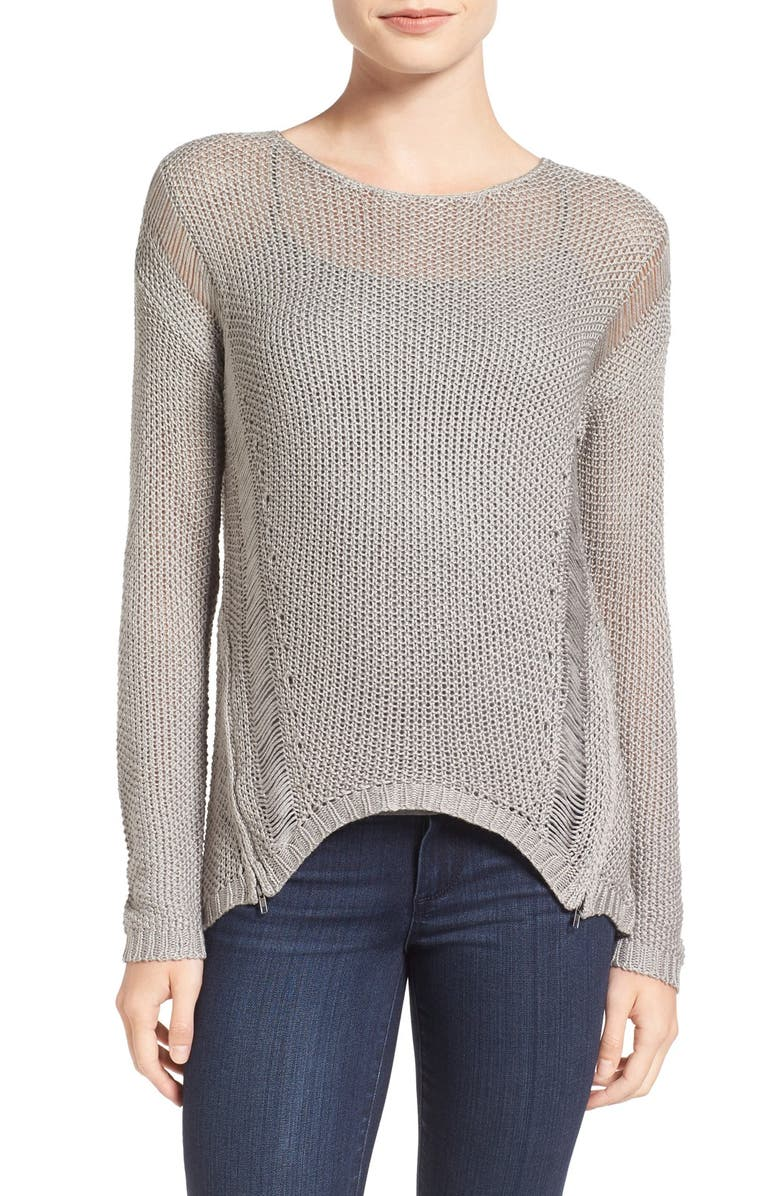 CUPCAKES AND CASHMERE 'Fiona' Open Knit Pullover, Main, color, 200