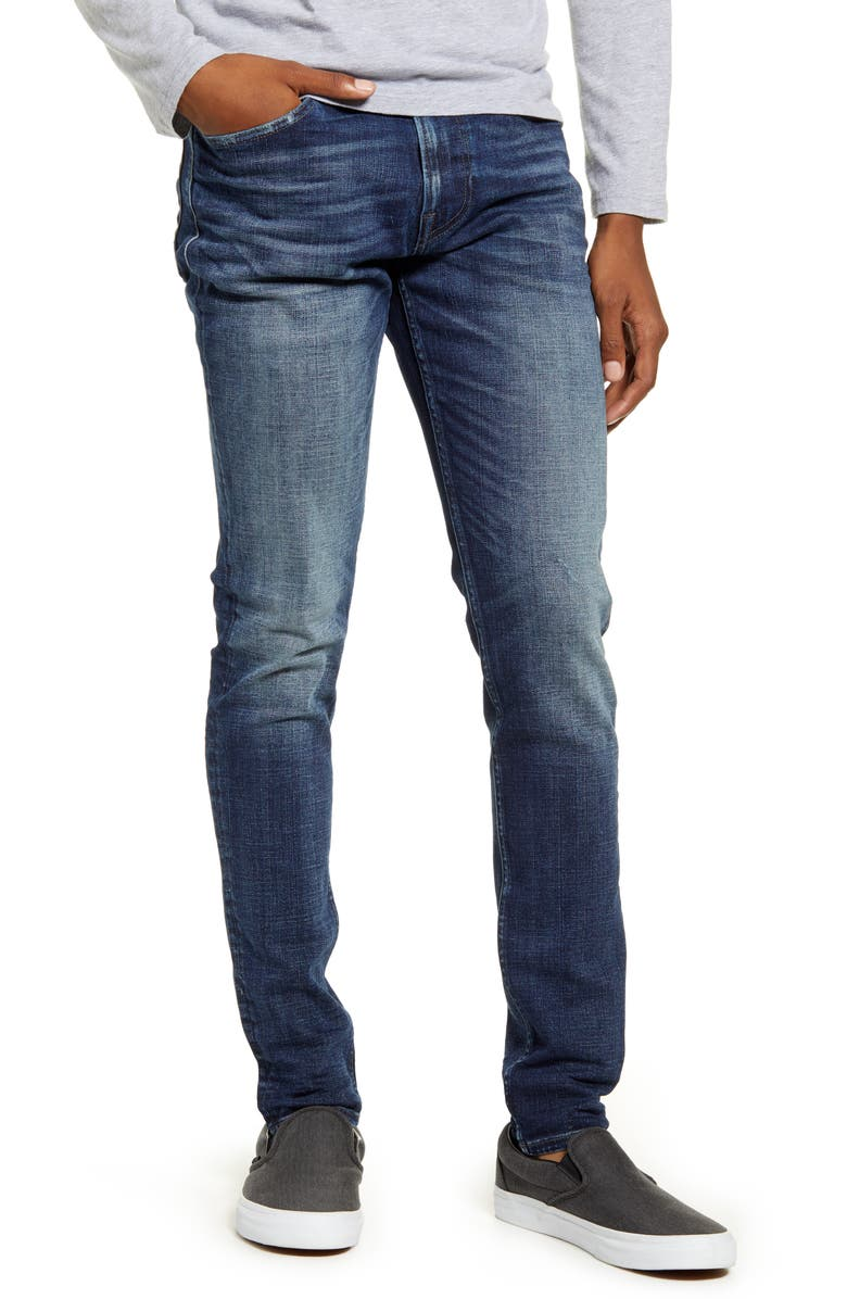 HUDSON JEANS Zack Skinny Jeans, Main, color, MEDIA