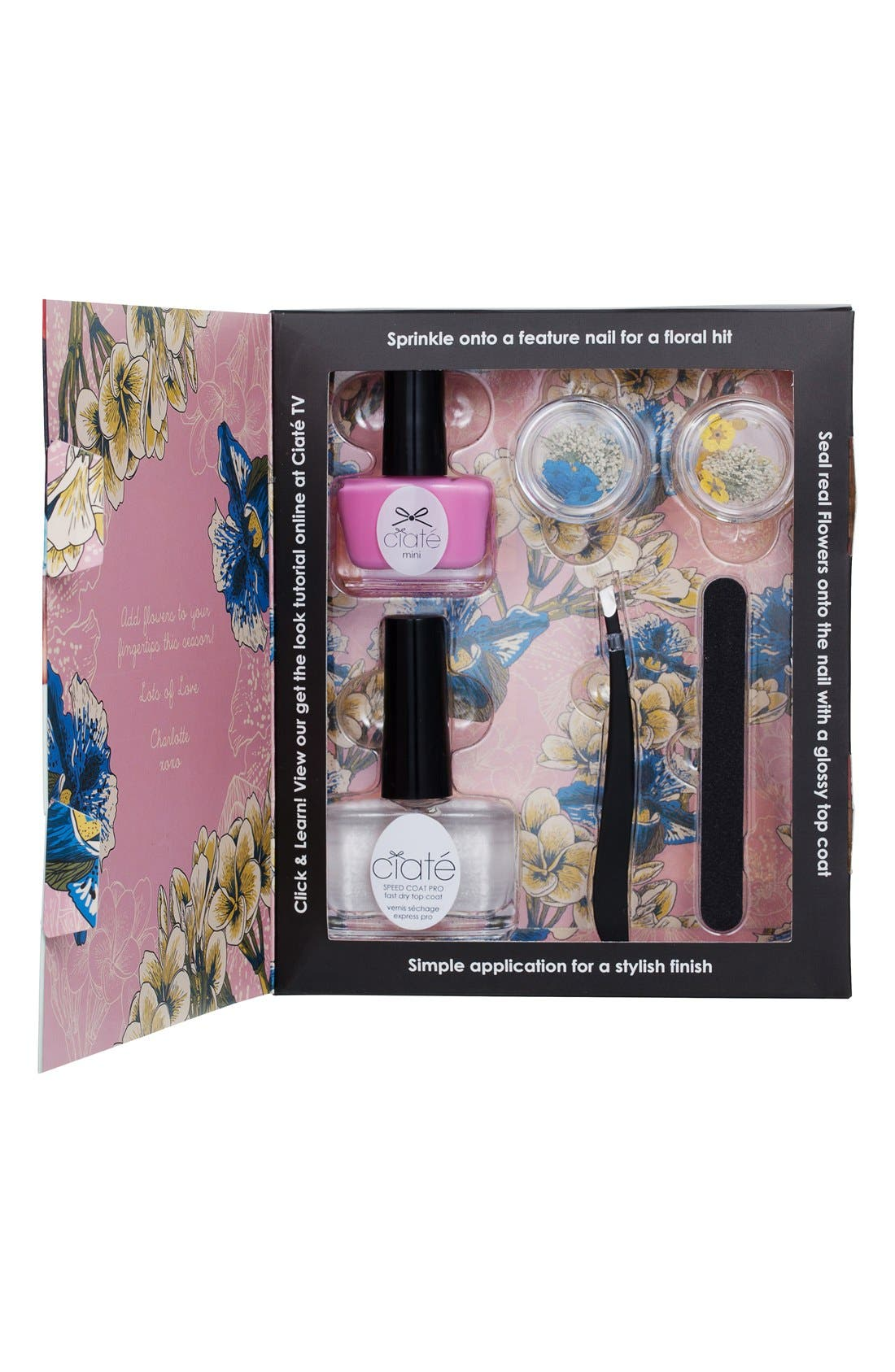 ,                             'Flower Manicure - Strike-a-Posy' Set,                             Alternate thumbnail 2, color,                             000