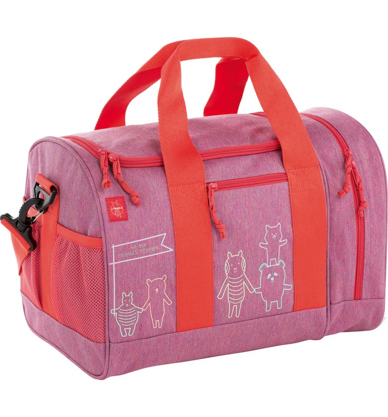 LÄSSIG Mini About Friends Duffle Bag, Main, color, MELANGE PINK