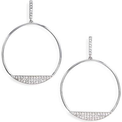 Sterling Forever Circle Drop Earrings