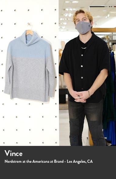 Colorblock Funnel Neck Cashmere Sweater, sales video thumbnail