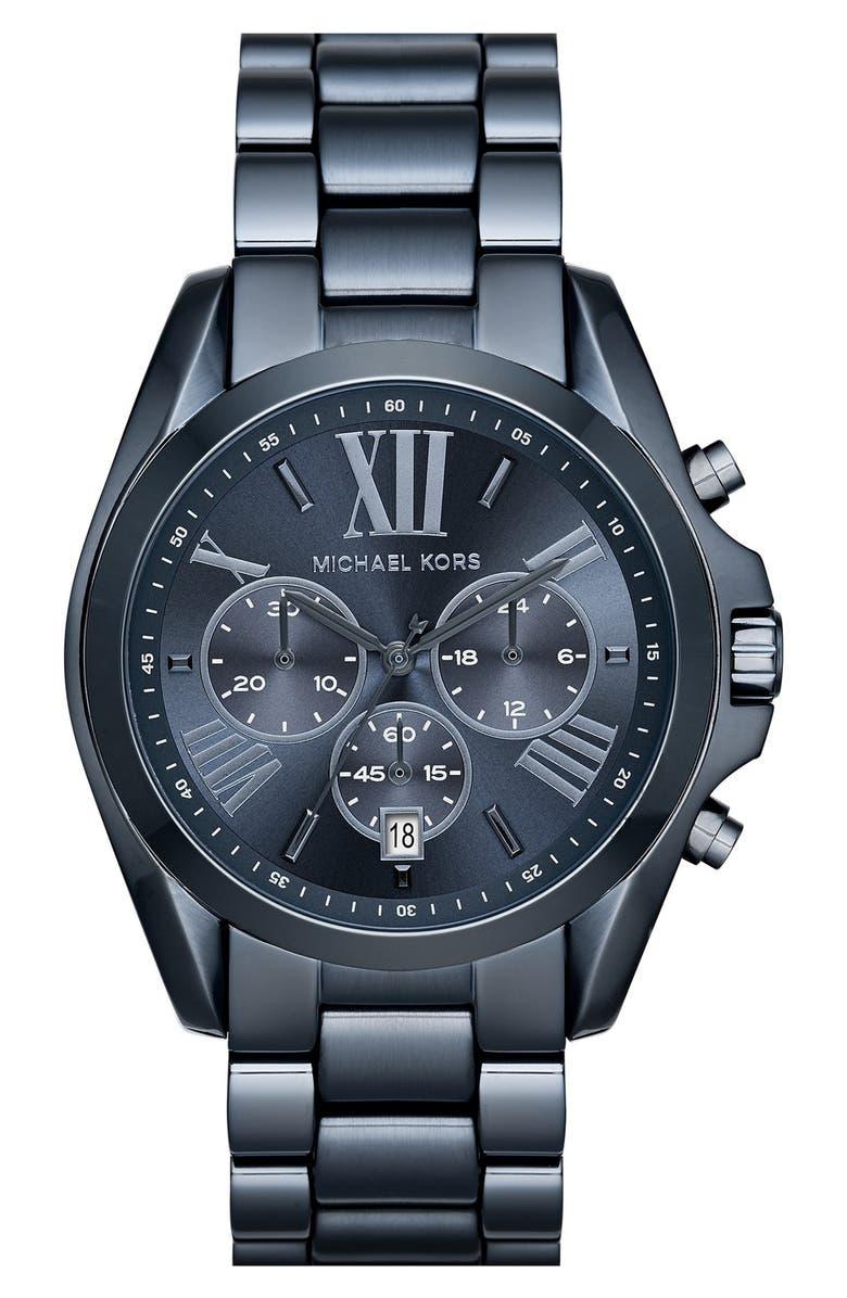 MICHAEL KORS 'Bradshaw' Chronograph Bracelet Watch, 43mm, Main, color, 000