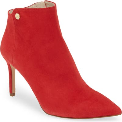 Louise Et Cie Sid Pointy Toe Bootie- Red (Nordstrom Exclusive)