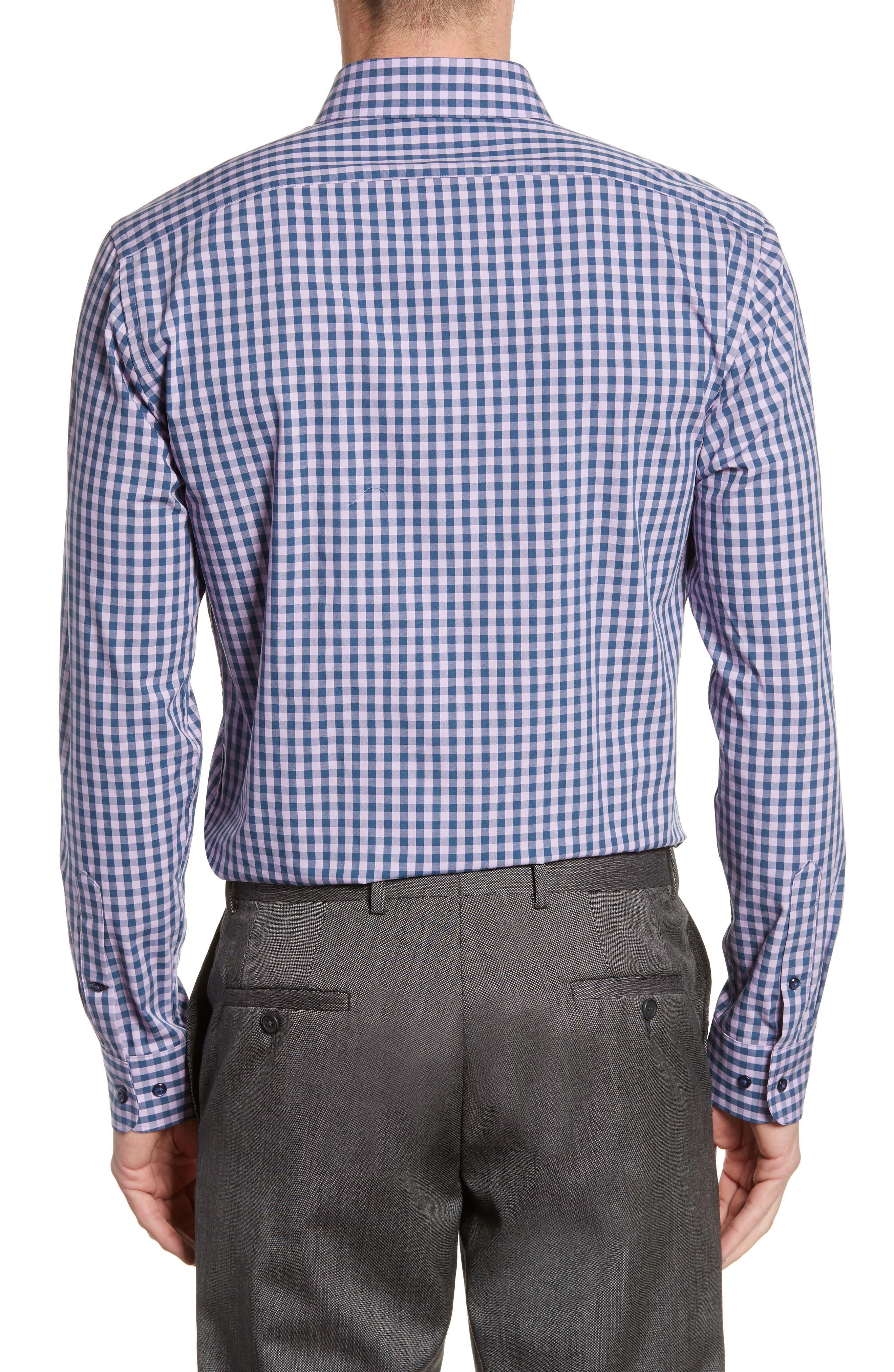 ,                             Tech-Smart Trim Fit Stretch Check Dress Shirt,                             Alternate thumbnail 41, color,                             510
