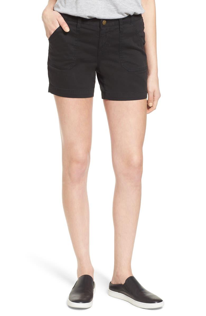 CASLON<SUP>®</SUP> Utility Shorts, Main, color, BLACK