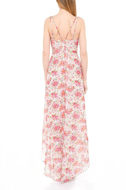 Image of Alexia Admor Bailey Sweetheart High/Low Maxi Dress