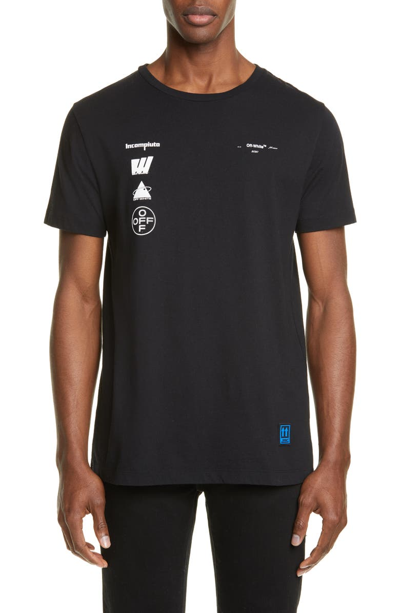 OFF-WHITE Mariana Graphic T-Shirt, Main, color, BLACK MULTI