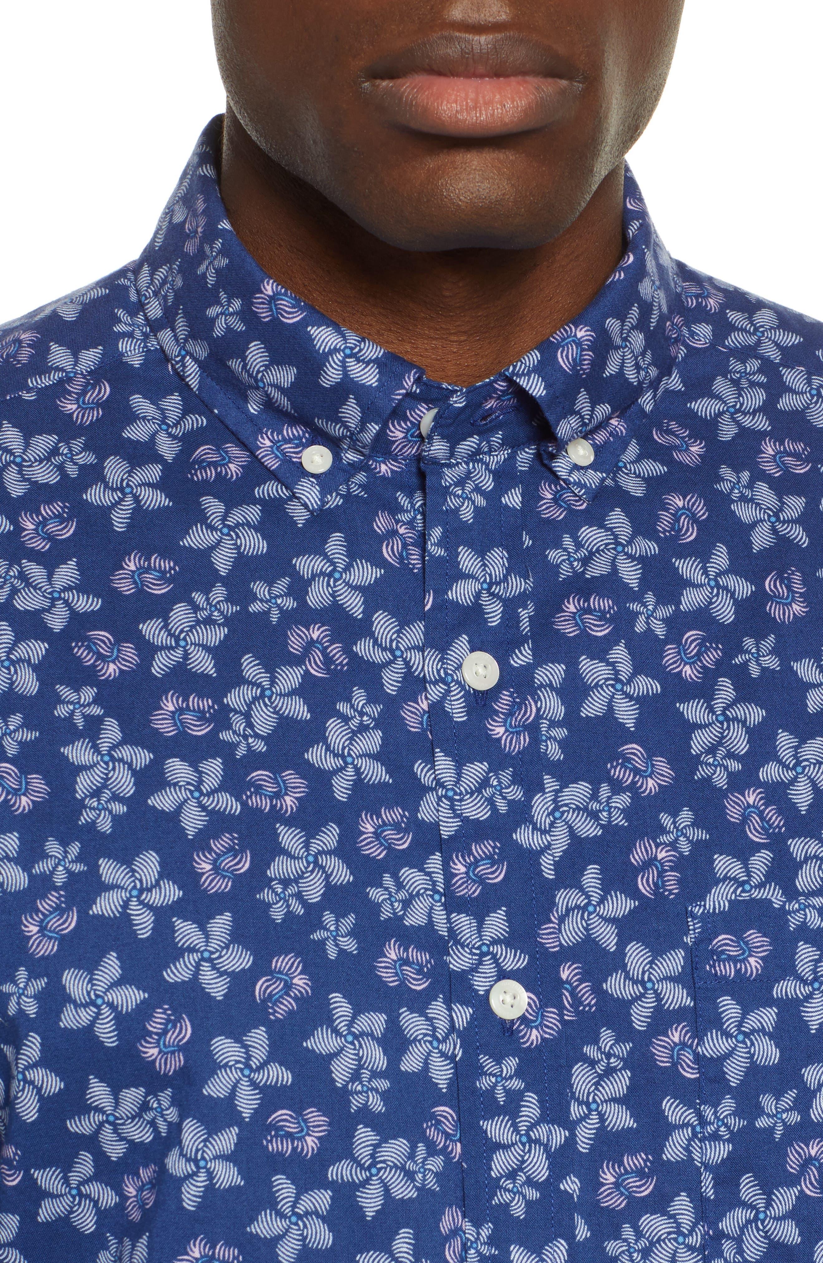 ,                             Murray Slim Fit Floral Print Sport Shirt,                             Alternate thumbnail 2, color,                             400
