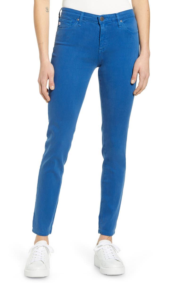 AG The Prima Ankle Cigarette Jeans, Main, color, HI-WHITE MARINER STORM