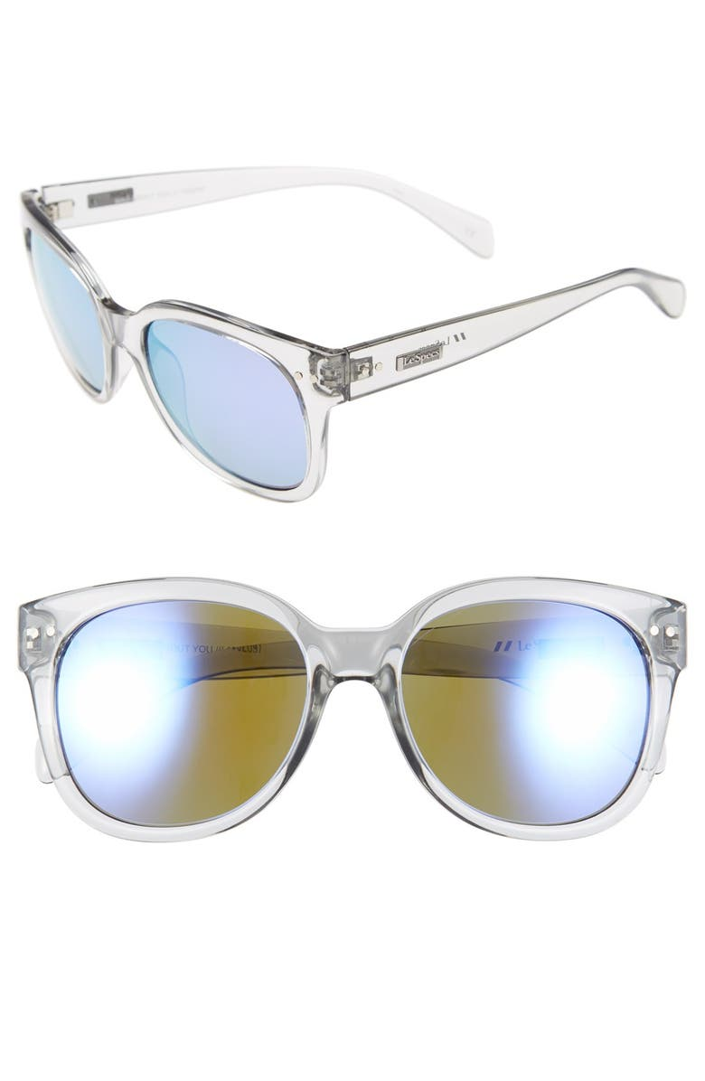 LE SPECS 'Mad About You' 55mm Polarized Sunglasses, Main, color, 020