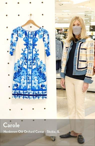 Border Print Sheath Dress, sales video thumbnail
