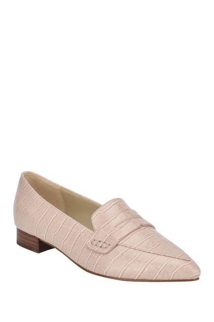 Image of Marc Fisher Feud Pointed Toe Embossed Loafer