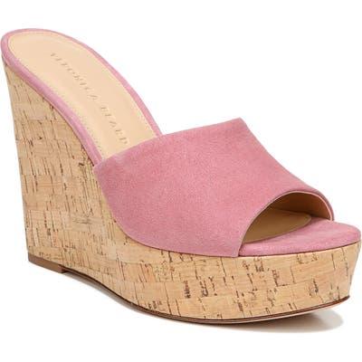 Veronica Beard Dali Platform Wedge Sandal- Pink