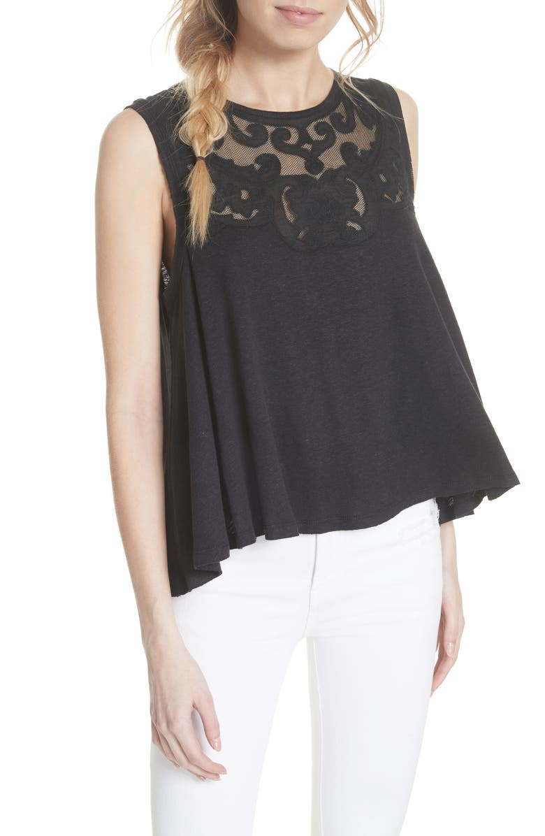 FREE PEOPLE Meant to Be Swing Top, Main, color, 001