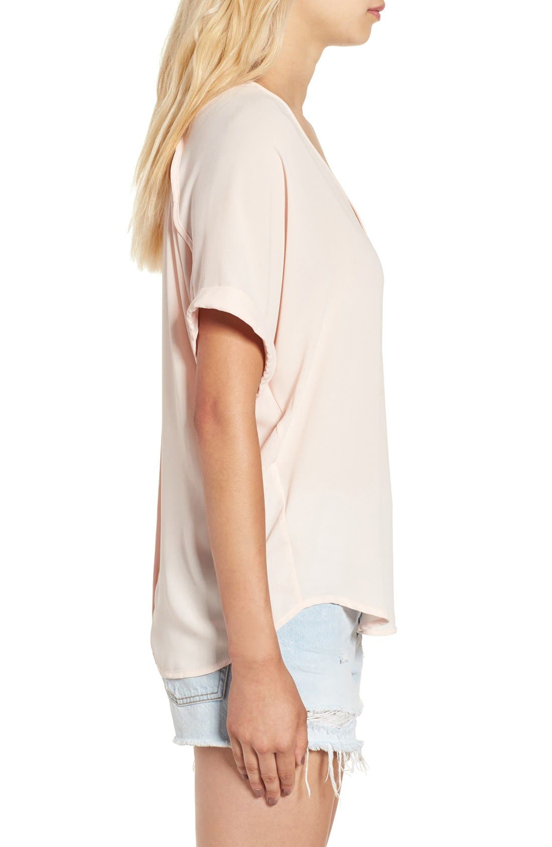 ,                             Lush Cuff Sleeve Woven Tee,                             Alternate thumbnail 164, color,                             652