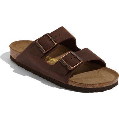Birkenstock Arizona Soft Footbed Sandal, Brown