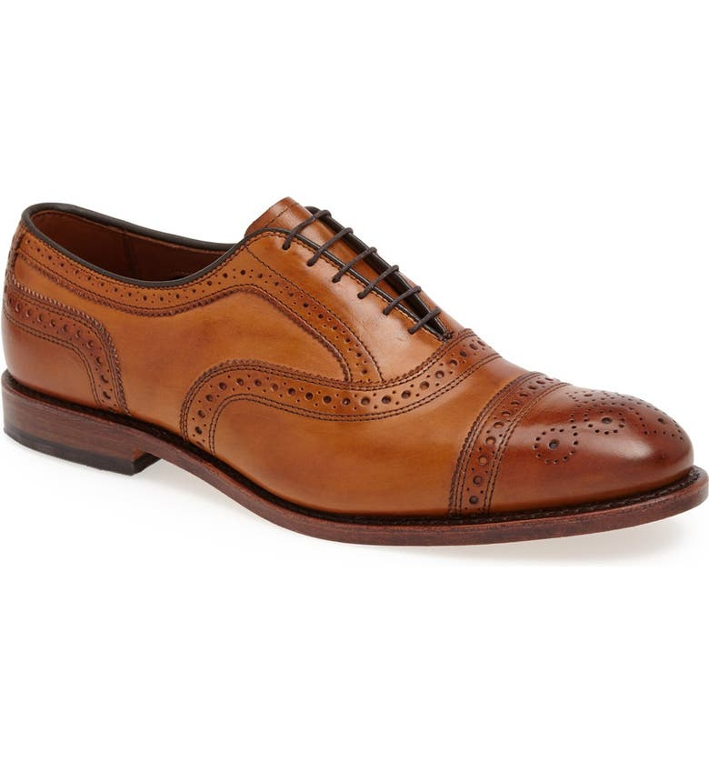ALLEN EDMONDS 'Strand' Cap Toe Oxford, Main, color, WALNUT LEATHER