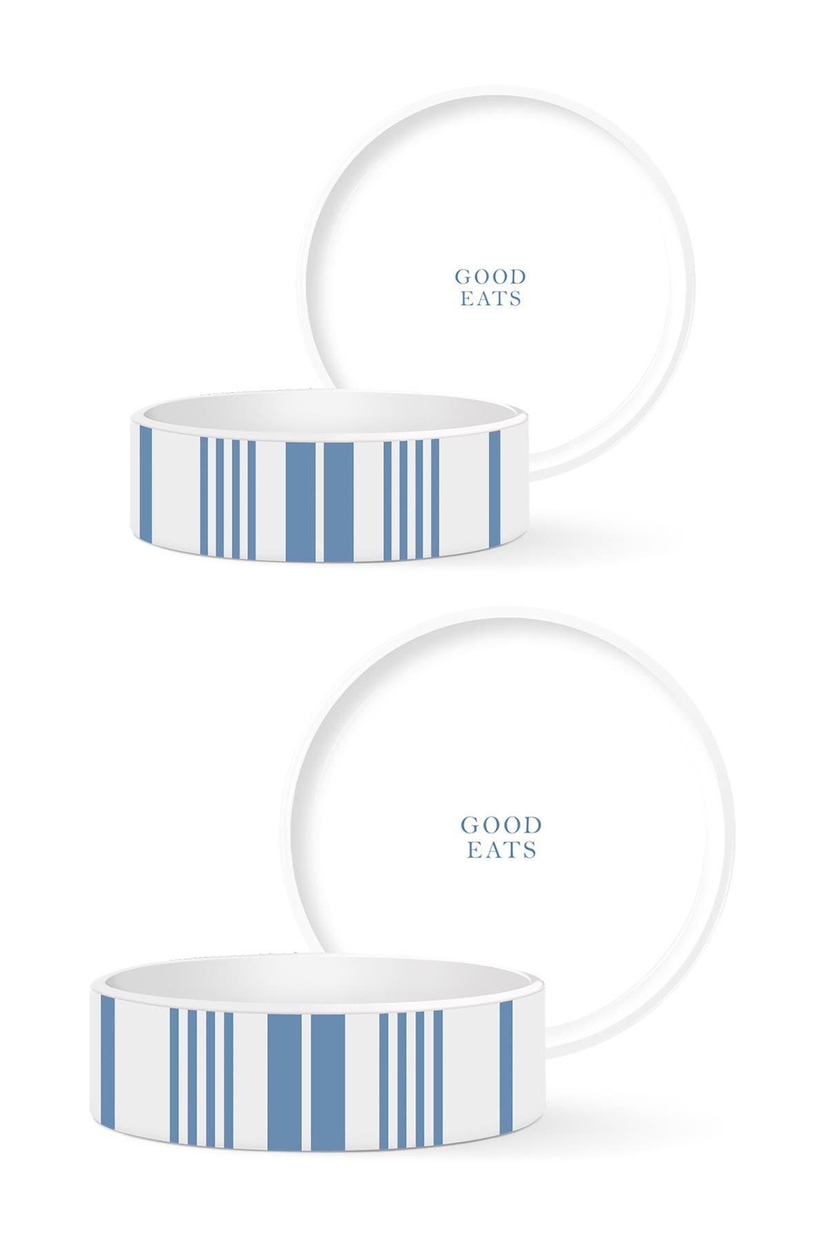 Image of Fringe Studio Good Eats Small & Medium Pet Bowls 2-Piece Set