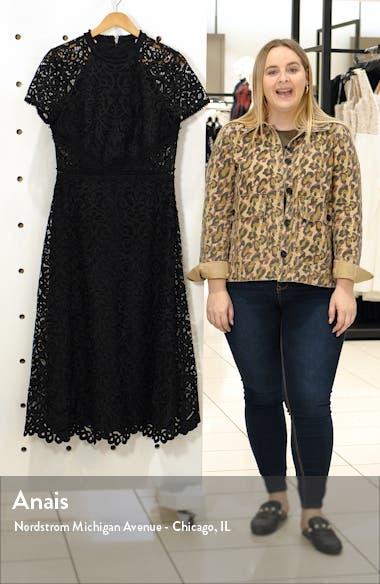 Short Sleeve A-Line Lace Midi Dress, sales video thumbnail