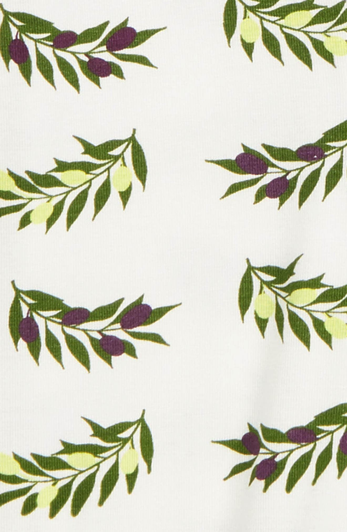 ,                             Olive Branch Print Zip Footie,                             Alternate thumbnail 2, color,                             NATURAL OLIVE BRANCH