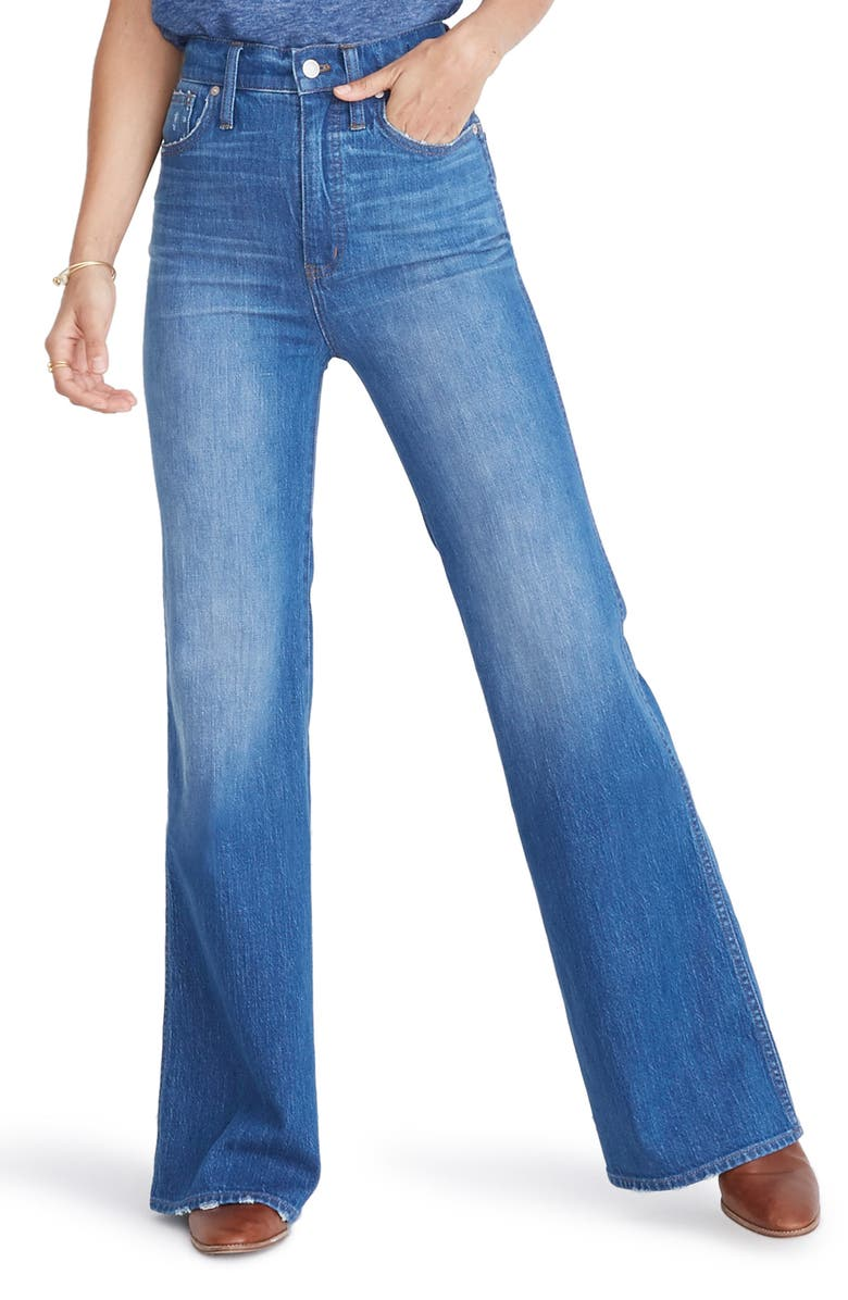 MADEWELL High Waist Flare Jeans, Main, color, MOSSBROOK WASH