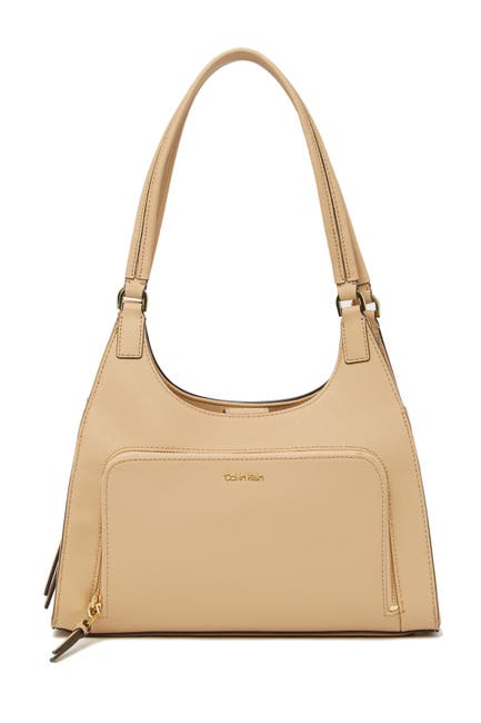 Image of Calvin Klein Ava Saffiano Leather Organizational Shoulder Bag