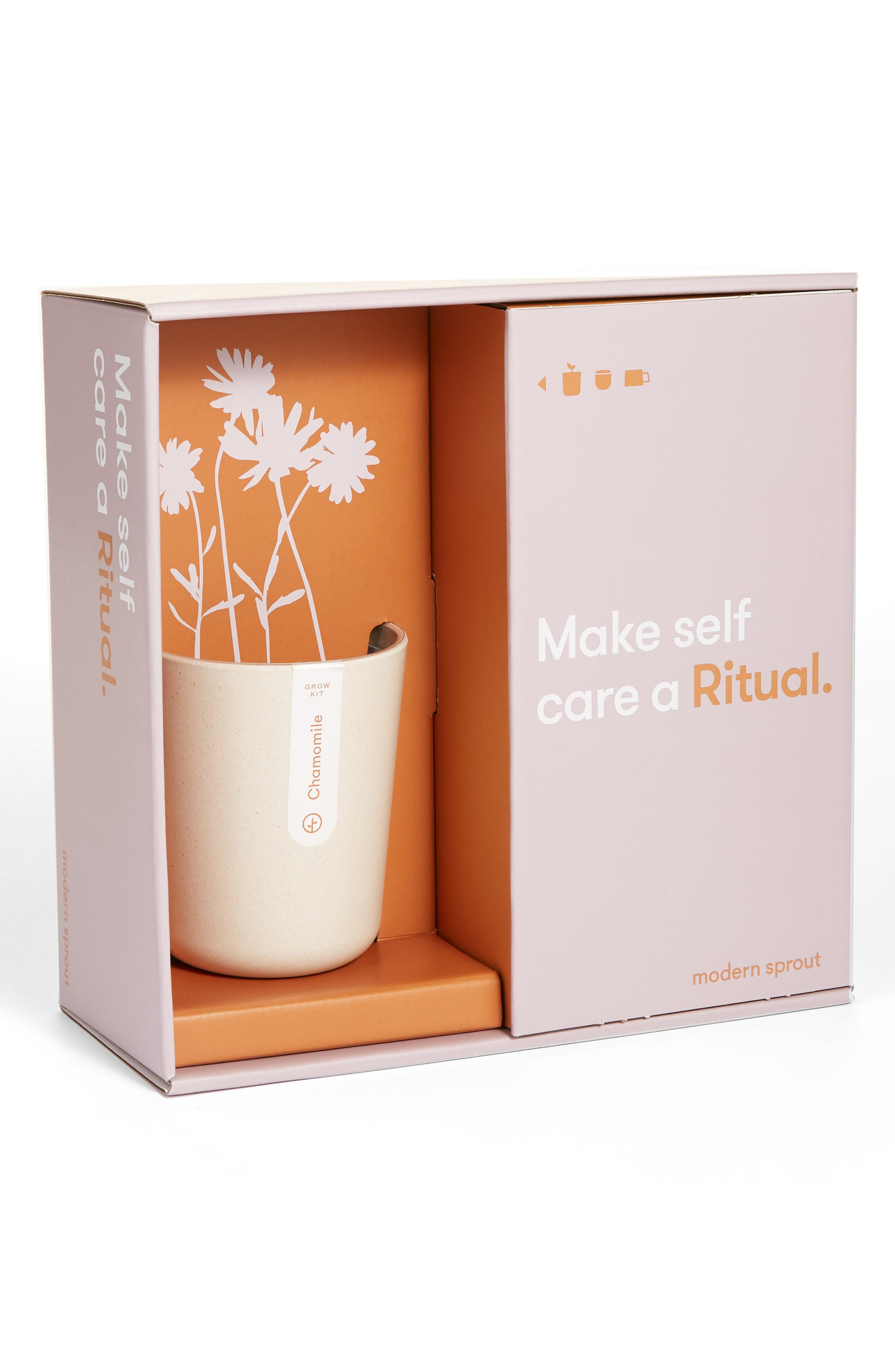 Give the gift of purposeful sanctuary with this self-watering chamomile grow kit that comes with a mug, lid and steeper to brew your own relaxing cup of tea. Style Name: Modern Sprout Live Well Ritual Gift Set. Style Number: 5950376. Available in stores.