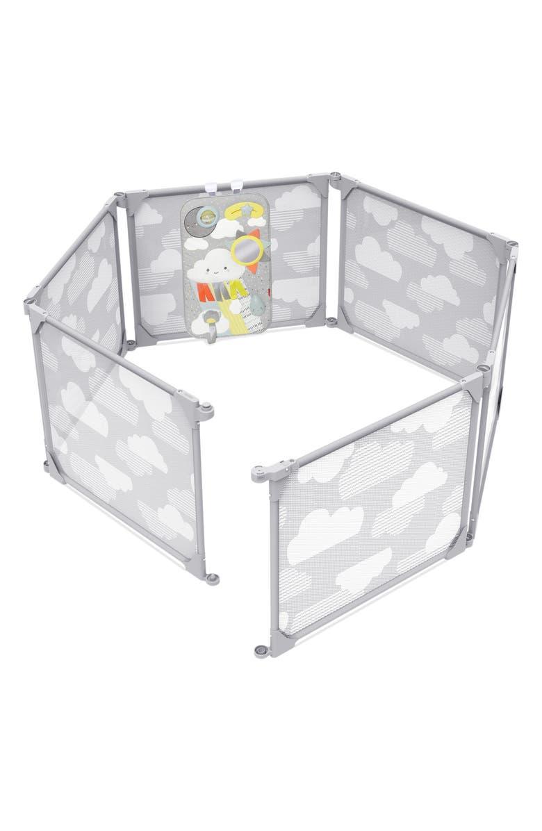 SKIP HOP Playview Expandable Enclosure, Main, color, GREY/ CLOUDS