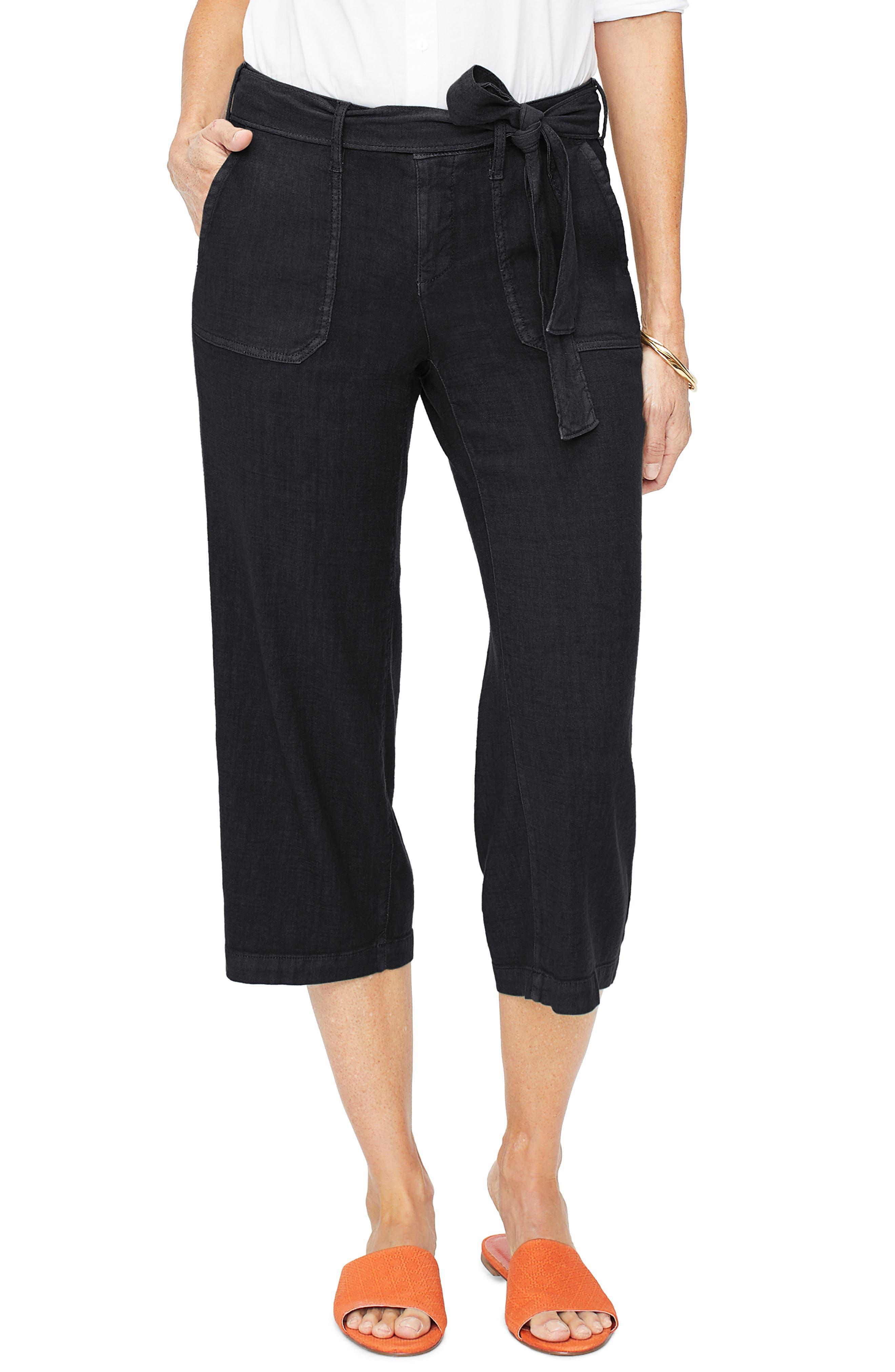 Nydj Fashion Cargo Capri Pants, Black