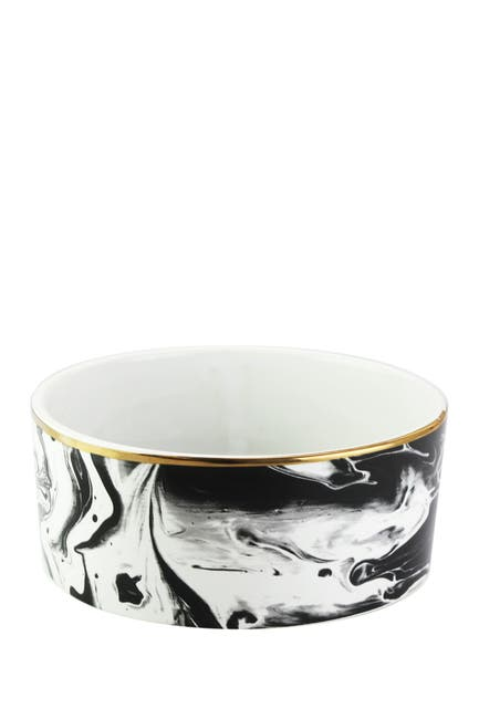 Image of Jay Import Everyday Pet Bowl - Marble/Gold