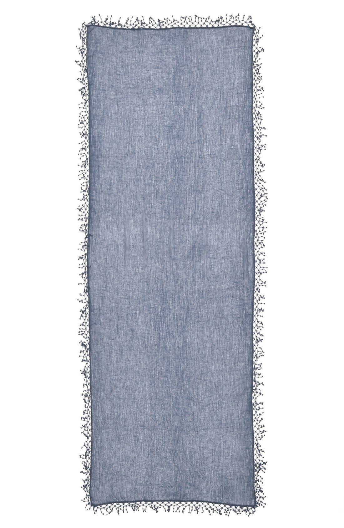 ,                             'Pompom' Cashmere Wrap,                             Alternate thumbnail 7, color,                             075