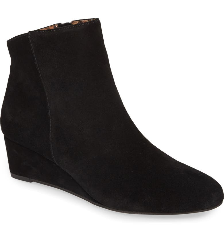 SEYCHELLES Sultry Wedge Bootie, Main, color, BLACK SUEDE