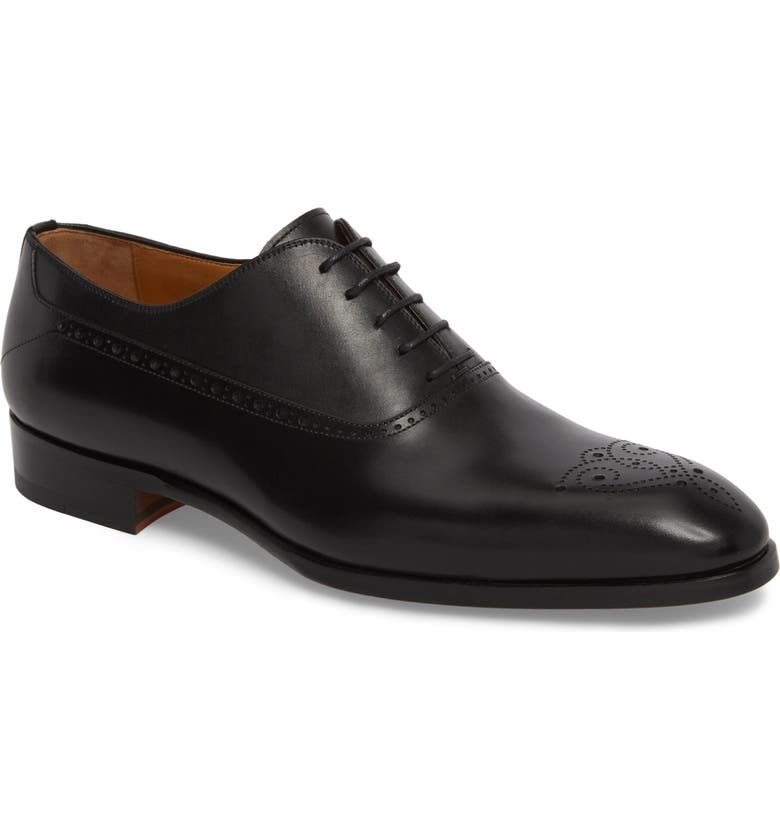 MAGNANNI Manolo Medallion Toe Oxford, Main, color, 001