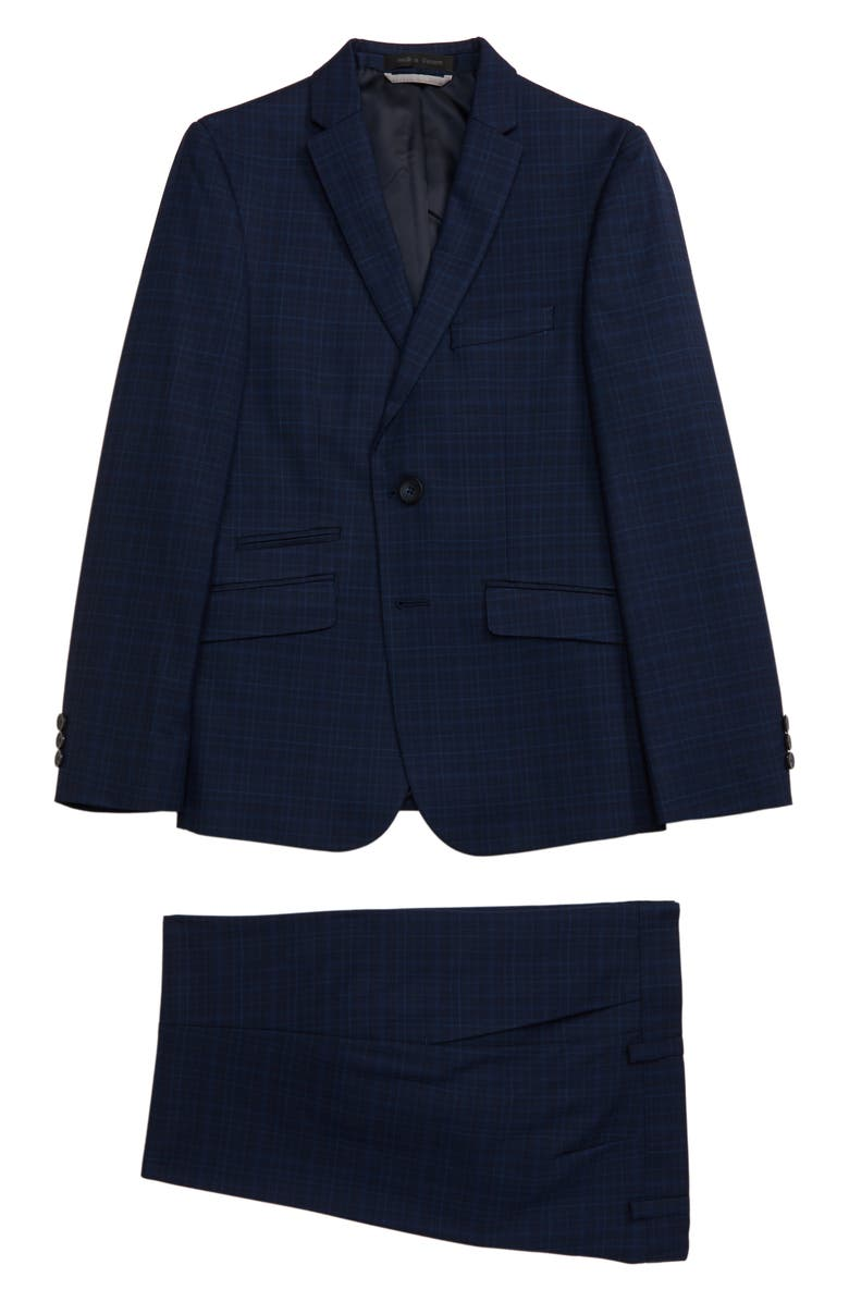 ANDREW MARC Plaid Nested Suit, Main, color, 410