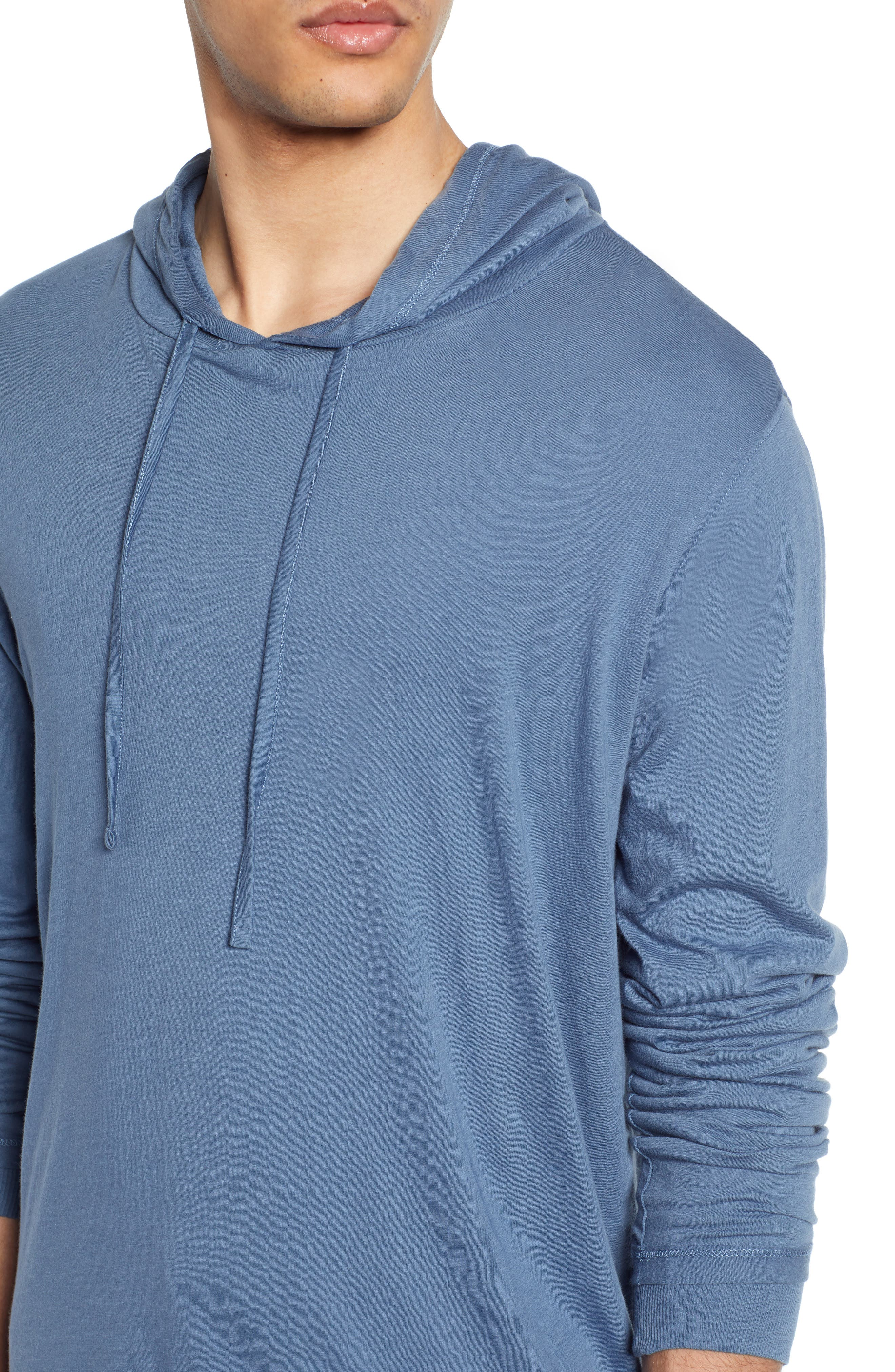 ,                             Double Layer Solid Hoodie,                             Alternate thumbnail 4, color,                             BERING SEA