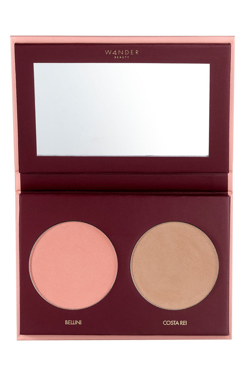 WANDER BEAUTY Trip for Two Blush & Bronzer Duo, Main, color, COSTA REI/BELLINI