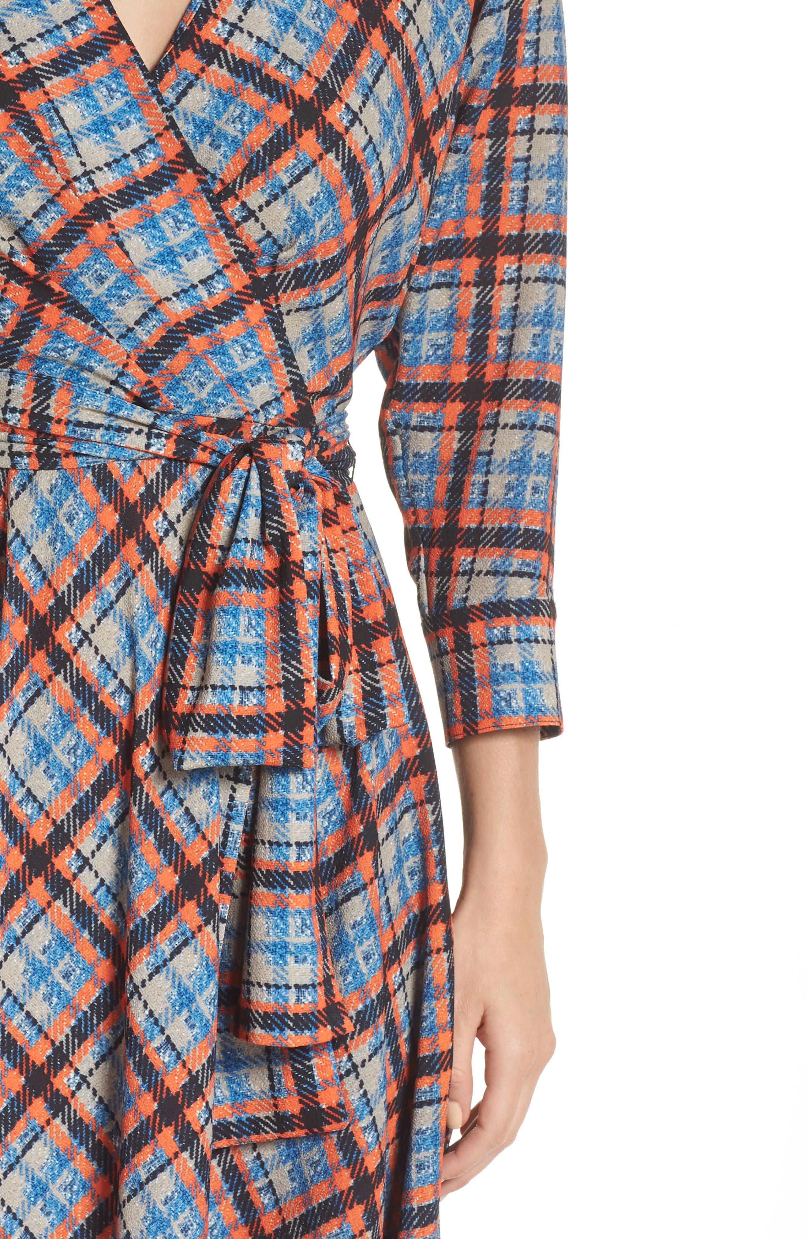 ,                             Plaid Faux Wrap Dress,                             Alternate thumbnail 5, color,                             810