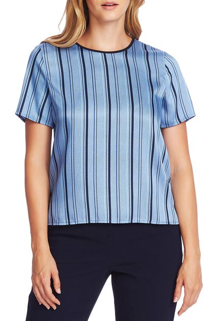 Vince Camuto Shorts STRIPEY INTERLUDES SHORT SLEEVE TOP