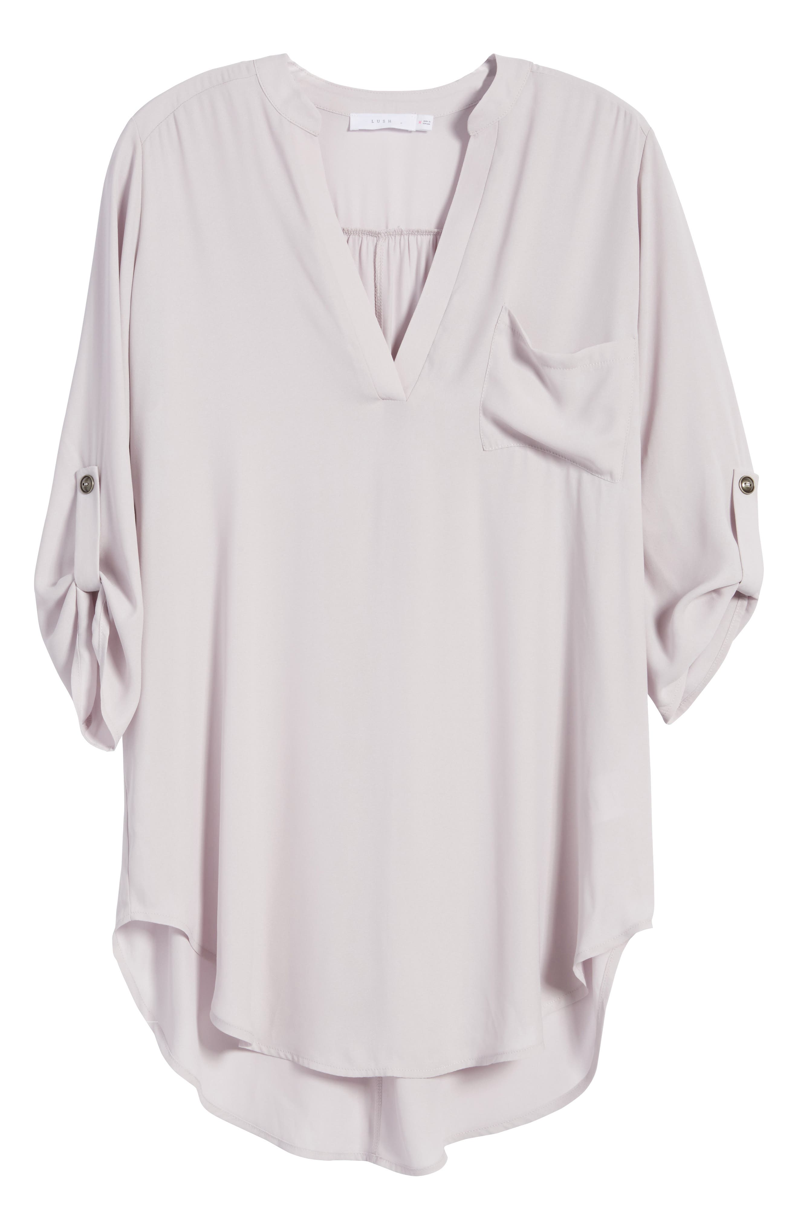 ,                             Perfect Roll Tab Sleeve Tunic,                             Alternate thumbnail 323, color,                             503