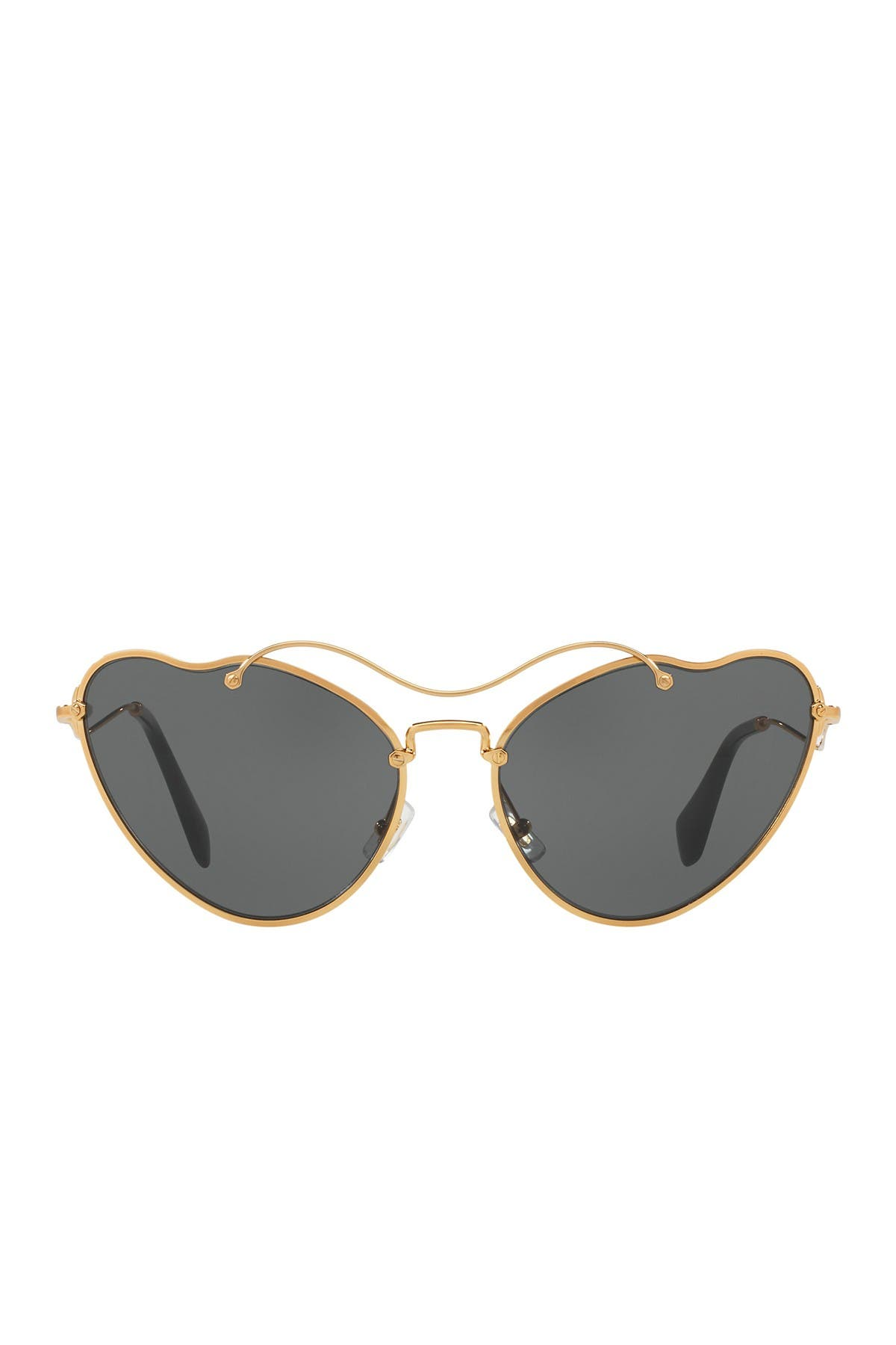 Image of MIU MIU Butterfly 55mm Metal Frame Sunglasses