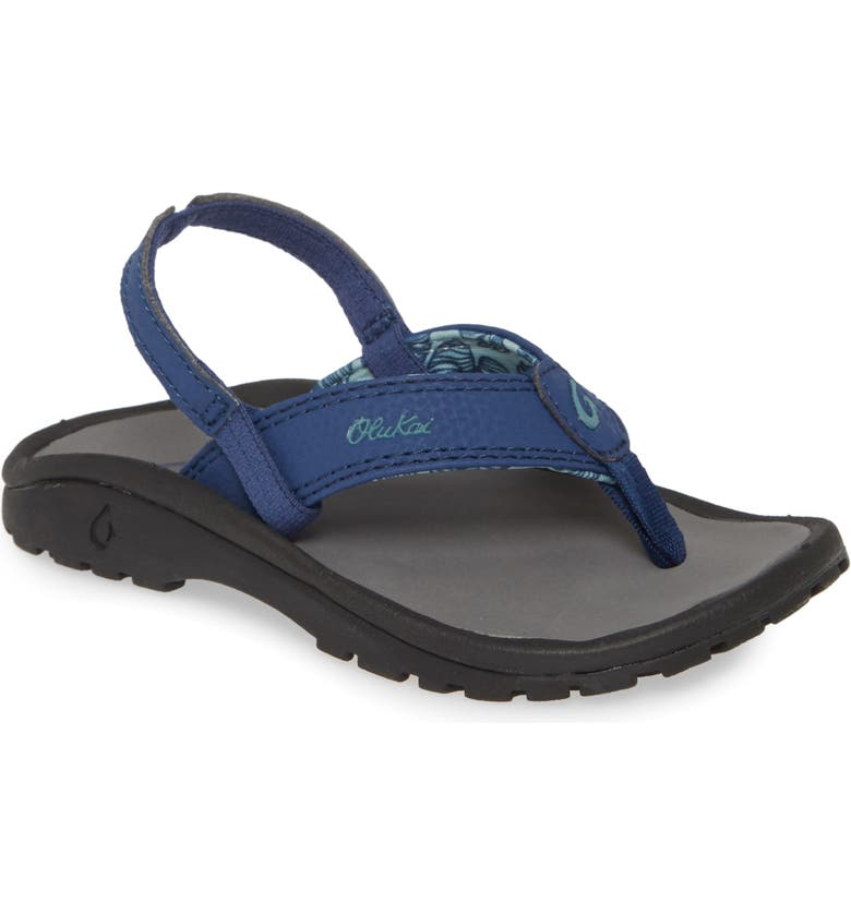 OLUKAI 'Ohana' Sandal, Main, color, DEEPEST DEPTHS/ CHARCOAL