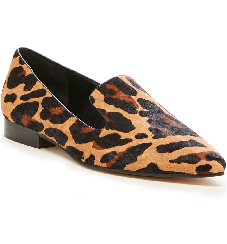 SOLE SOCIETY So-Kapa Asymmetrical Loafer, Main, color, NATURAL MULTI CALF HAIR