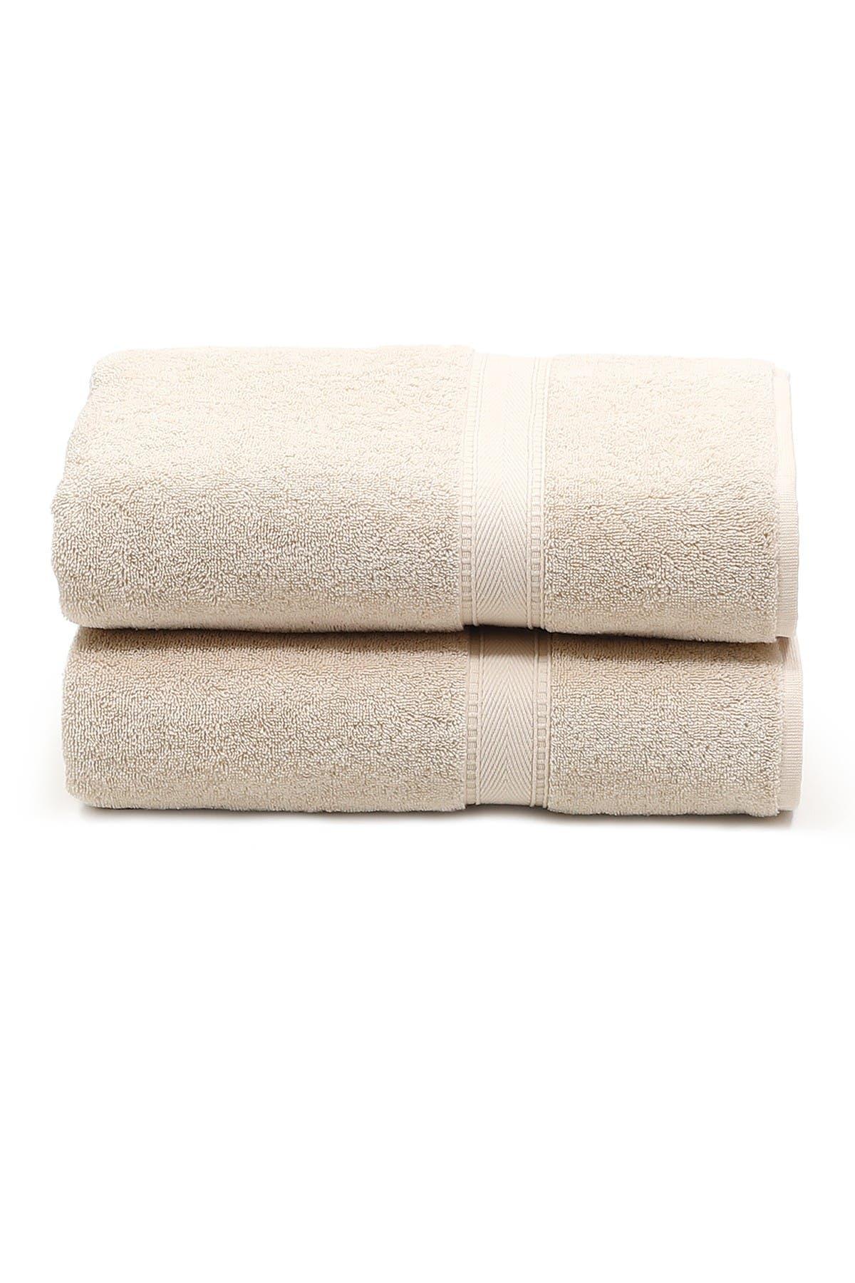 Image of LINUM HOME Sinemis Terry Bath Towels - Set of 2 - Beige