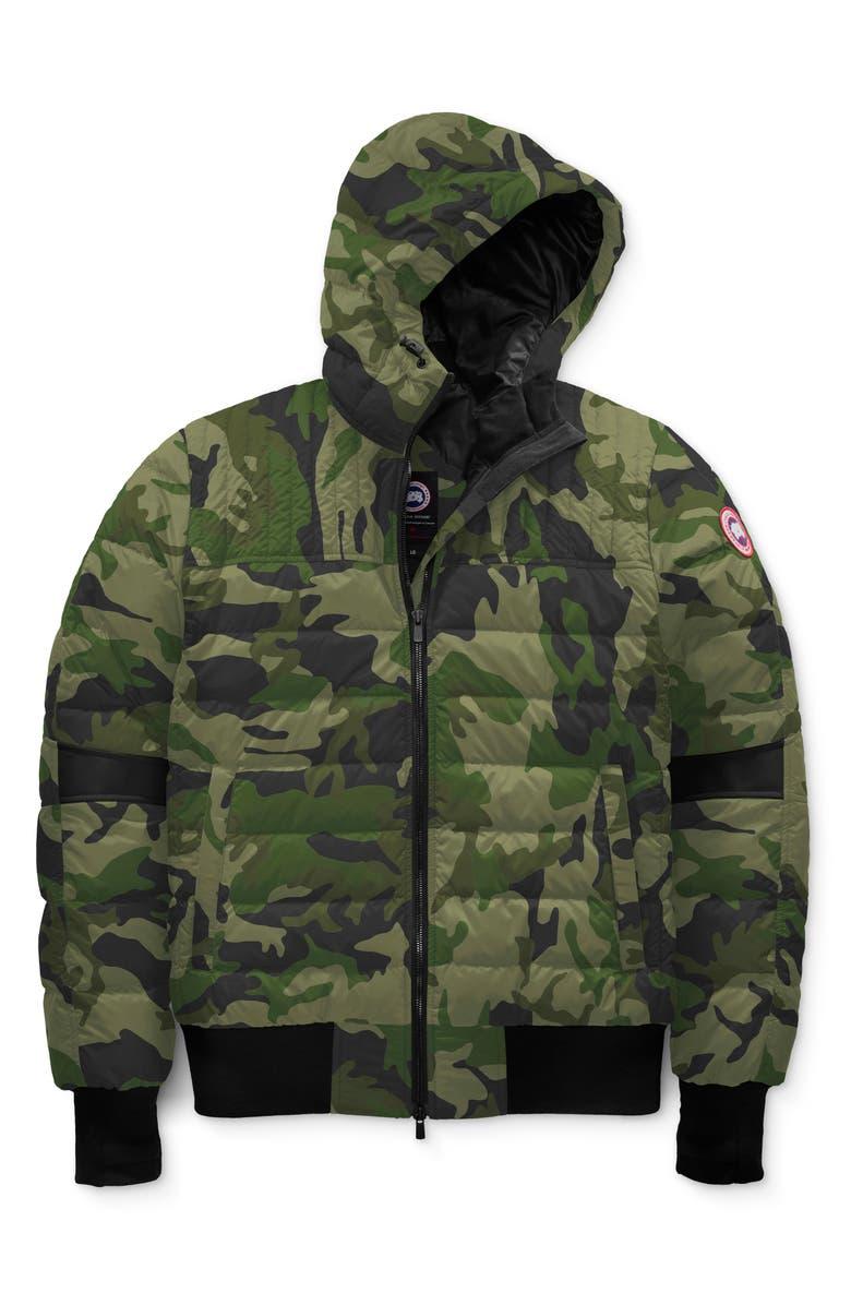 CANADA GOOSE Cabri Hooded Packable Down Jacket, Main, color, CANADA GOOSE CAMO