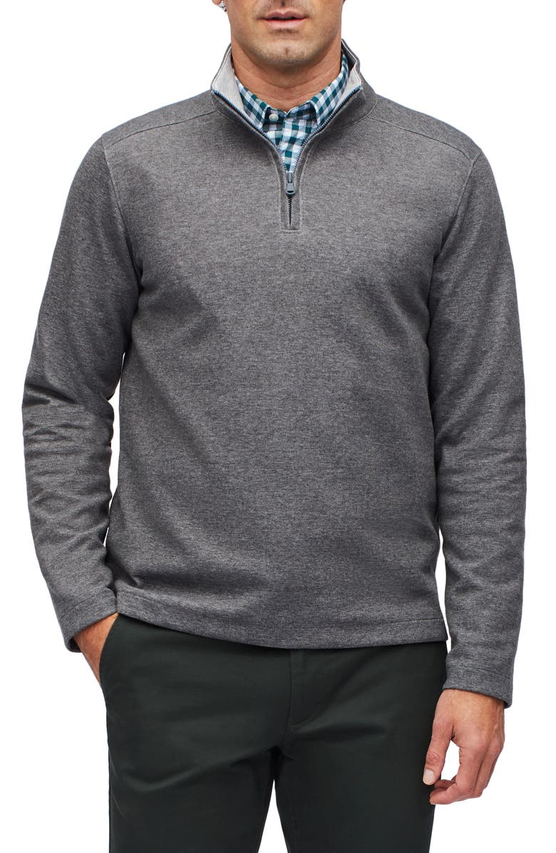 BONOBOS Wear to Work Half Zip Pullover, Main, color, CHARCOAL