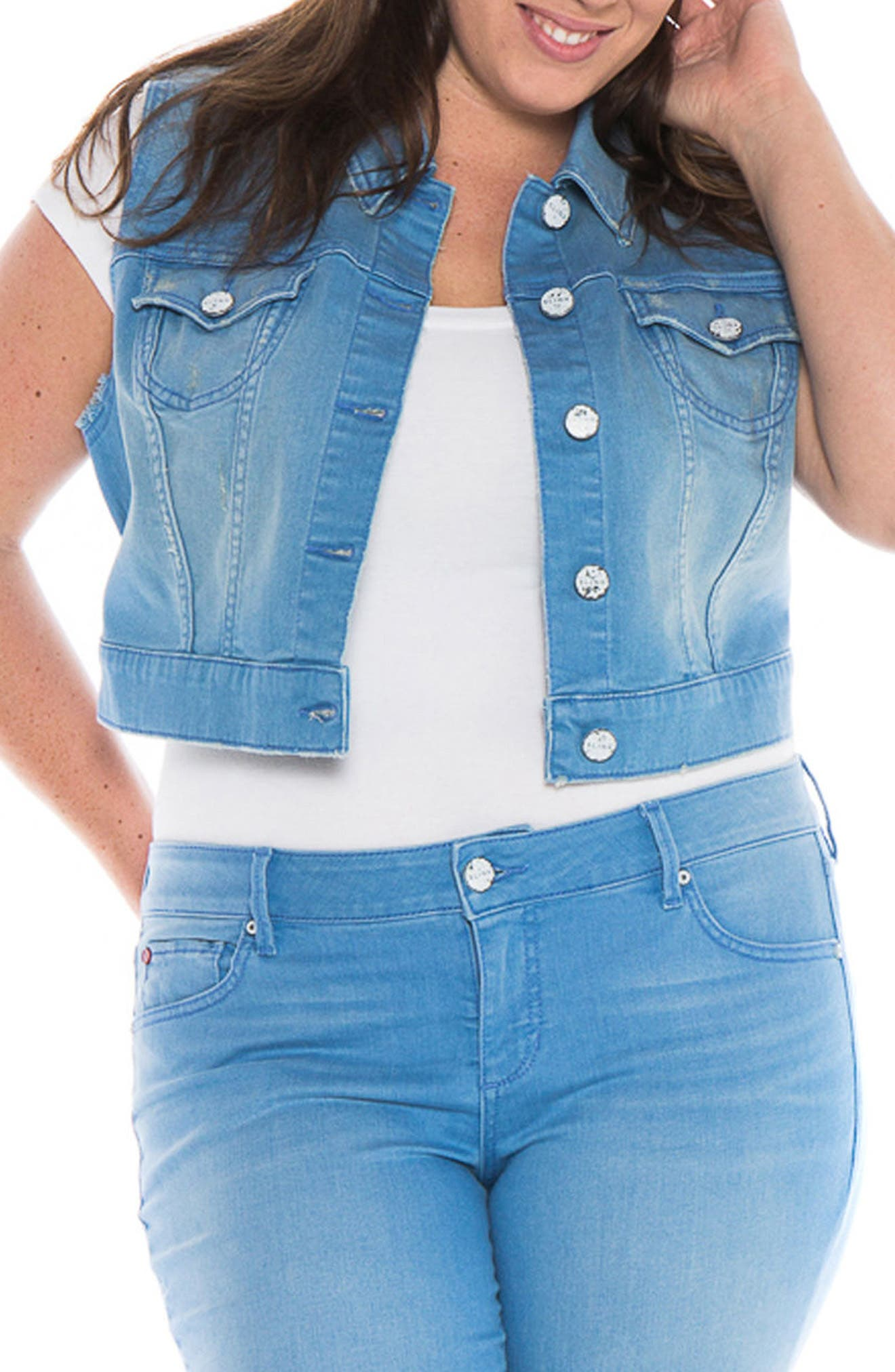 Image of SLINK JEANS Crop Denim Vest