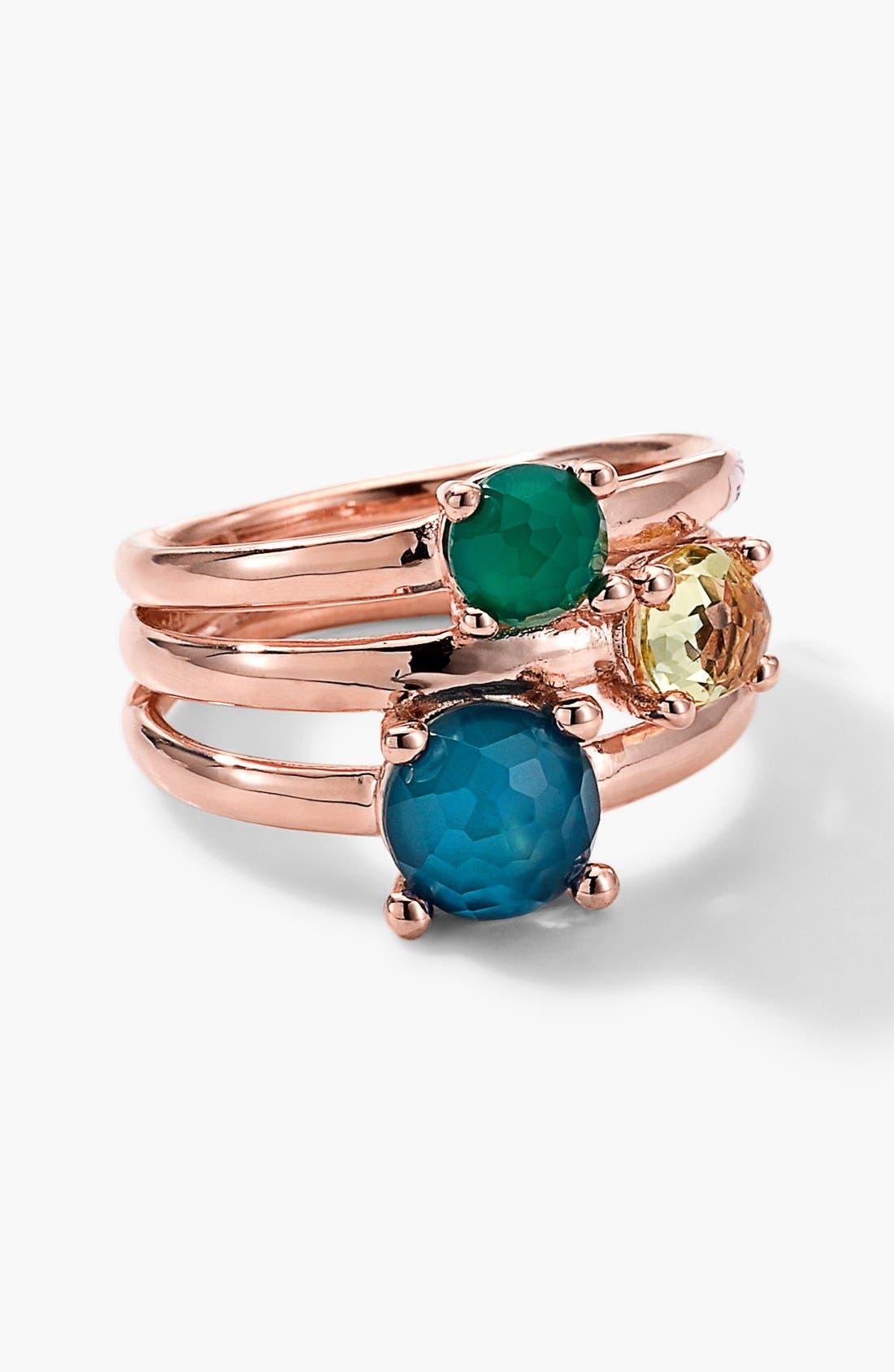 'Wonderland' Rosé Stack Ring, Main, color, 710
