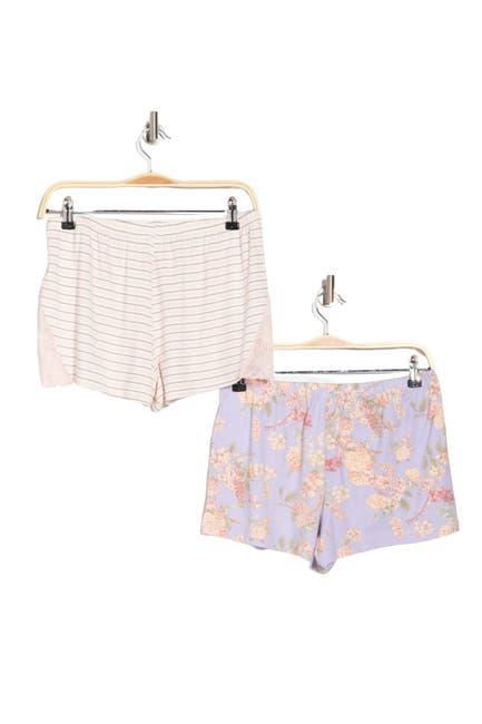 Image of Flora by Flora Nikrooz Printed Pajama Shorts - Set of 2