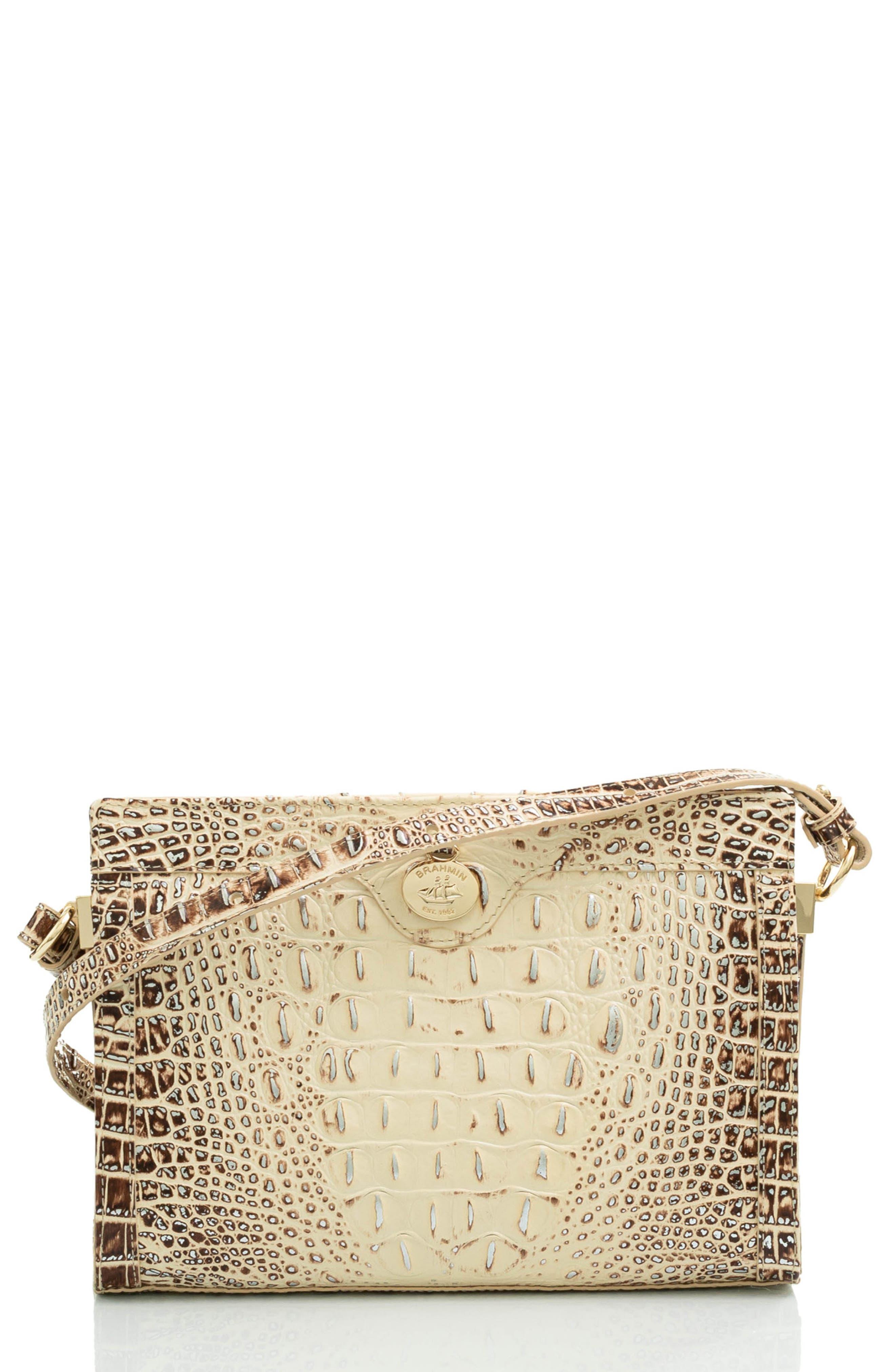 Alonna Croc Embossed Leather Crossbody Bag